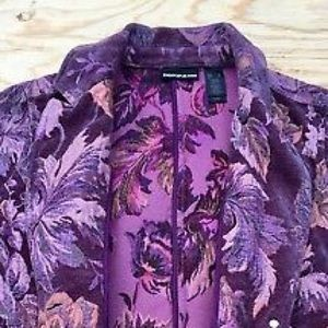 Dkny Jackets & Coats - DKNY Jeans women's floralblazer Purple XL